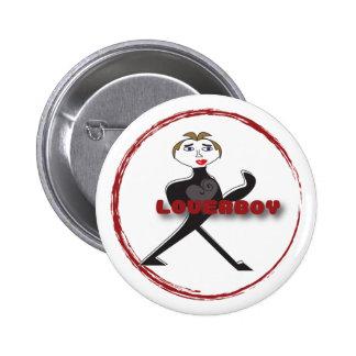 LOGOTIPO redondo del CÍRCULO del botón LOVERBOY