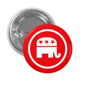 Logotipo republicano del elefante chapa redonda de 2,5 cm