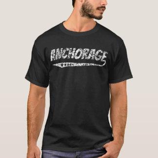 Logotipo retro apenado de Anchorage Camiseta