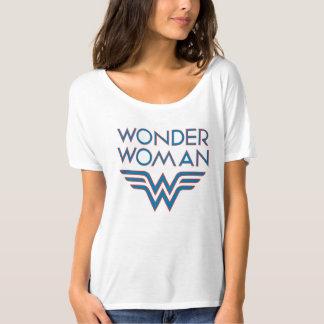Logotipo retro azul y rojo de la Mujer Maravilla Camiseta