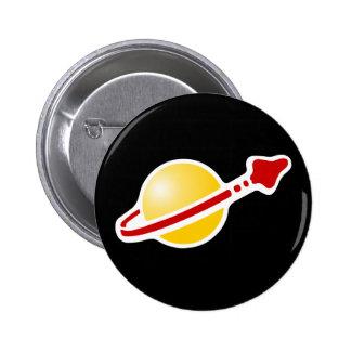 Logotipo retro de la insignia del astronauta del e chapa redonda 5 cm