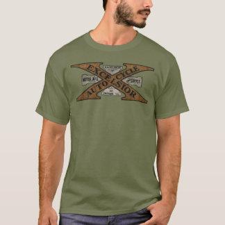 Logotipo retro de la motocicleta de las virutas camiseta