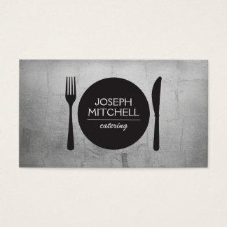 Logotipo retro para los cocineros, abastecimiento, tarjeta de negocios