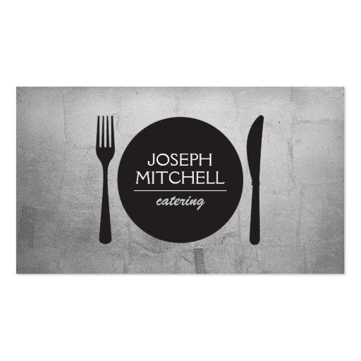 Logotipo retro para los cocineros, abastecimiento, plantillas de tarjeta de negocio
