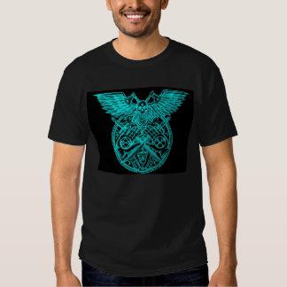 Logotipo ritual satánico de la célula del terror camisetas