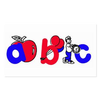 Logotipo rojo, blanco y azul del alfabeto de ABC Tarjetas De Visita