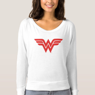 Logotipo rojo de la Mujer Maravilla Camiseta
