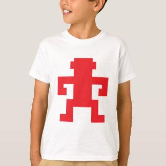 Logotipo rojo del mono del pixel camiseta
