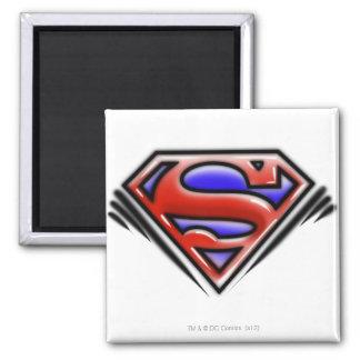 Logotipo rojo del superhombre del aerógrafo imán de frigorifico