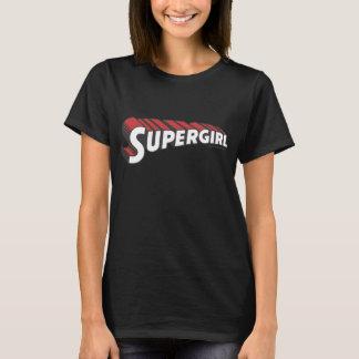Logotipo rojo y blanco de Supergirl Camiseta