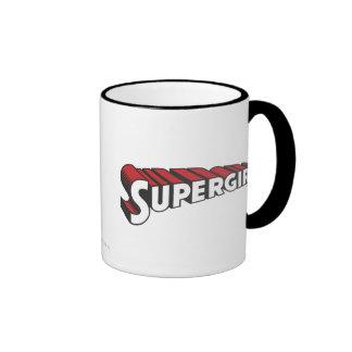Logotipo rojo y blanco de Supergirl Taza De Dos Colores