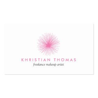 Logotipo rosado del soplo para el artista de maqui plantilla de tarjeta de negocio