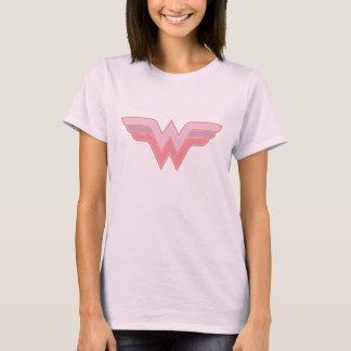 Logotipo rosado y anaranjado de la Mujer Maravilla Camiseta