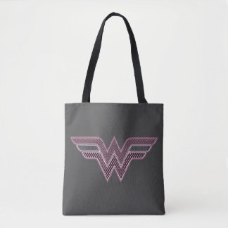 Logotipo rosado y negro de la Mujer Maravilla del Bolsa De Tela