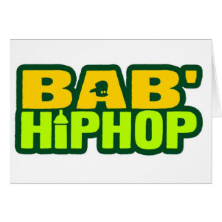 Logotipo seis de Hip Hop del bebé Tarjeton