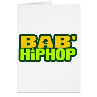 Logotipo seis de Hip Hop del bebé Tarjeta