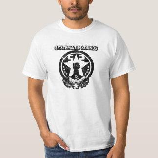 Logotipo sistemático 1 de los sonidos camiseta