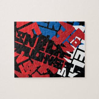 Logotipo solo del monstruo de la basura puzzle