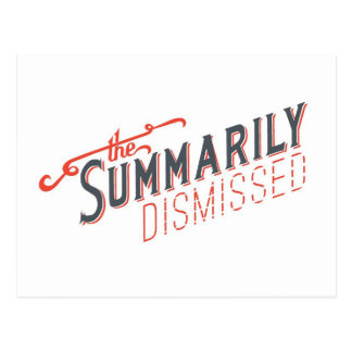 Logotipo sumario despedido postal