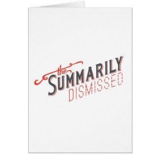 Logotipo sumario despedido tarjeta