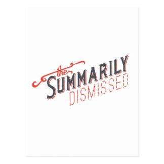 Logotipo sumario despedido tarjeta postal