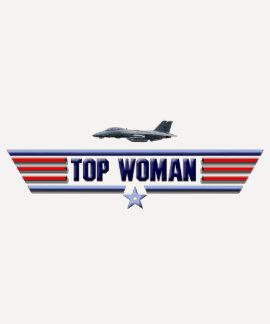 Logotipo superior de la mujer camisetas
