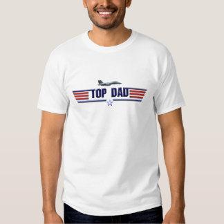 Logotipo superior del papá camisetas