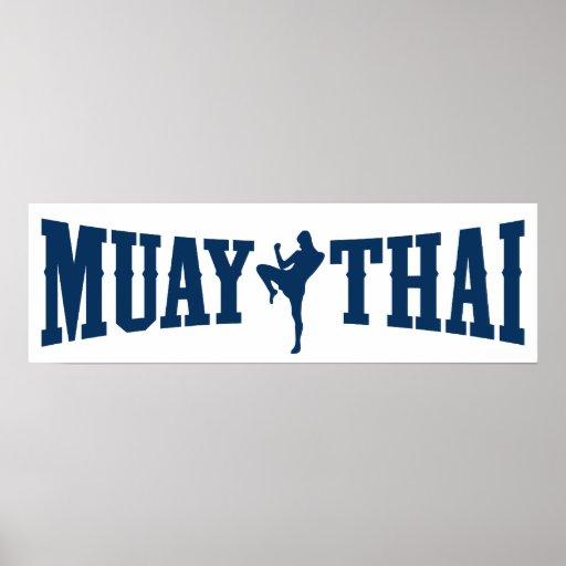 Logotipo tailandés de Muay Impresiones