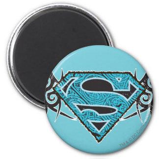 Logotipo tribal del modelo de Supergirl Imán Redondo 5 Cm