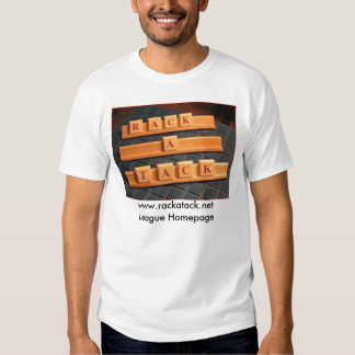 logotipo tridimensional de la Estante-uno-tachuela Camiseta