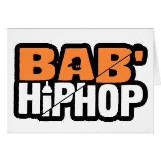 Logotipo uno del hip-hop del bebé felicitaciones