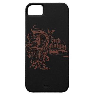 Logotipo urbano oscuro del caballero el | Brown de iPhone 5 Case-Mate Cobertura