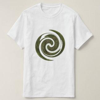 Logotipo verde de la energía de la rueda camiseta