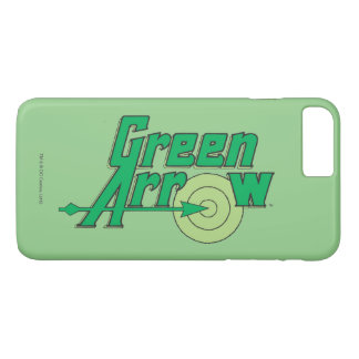 Logotipo verde de la flecha funda iPhone 7 plus
