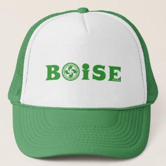 Logotipo verde elegante de Boise del vasco (con Gorra De Camionero