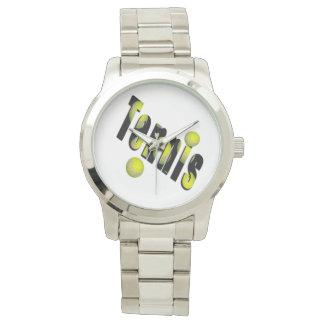 Logotipo y bolas, reloj de plata grande unisex del