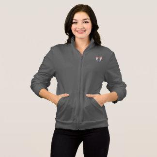 Logotipo y manos grises de la camiseta YACF con el