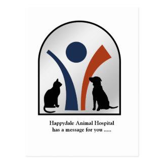 Logotipo y nombre veterinarios personalizados postal