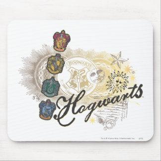 Logotipo y profesores 2 de Hogwarts Tapetes De Ratón