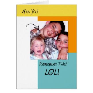 LOL, foto de moda de las memorias divertidas que l Tarjeta De Felicitación