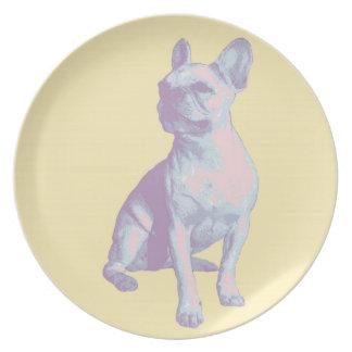 Lola la placa del dogo francés platos para fiestas