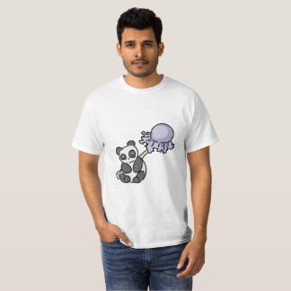 Lollipop de la panda camiseta