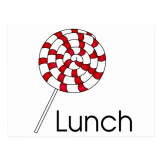 Lollipop del almuerzo postal