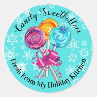 lollipops de la cocina del pegatina del navidad