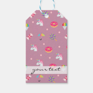 lollipops rosados lindos de las flores de los etiquetas para regalos