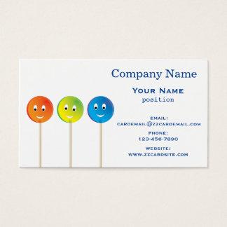 Lollipops sonrientes tarjeta de visita