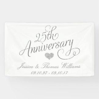 Lona 25to Aniversario de bodas de plata