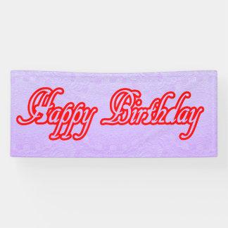 Lona 2,5' x 6' bandera HAPPYbirthday feliz+CUMPLEAÑOS