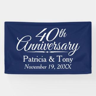 Lona 40.o Aniversario de boda - PUEDE el personalizado