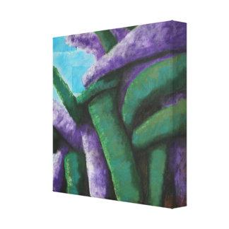 Lona abstracta del Buddleia Impresión En Lienzo